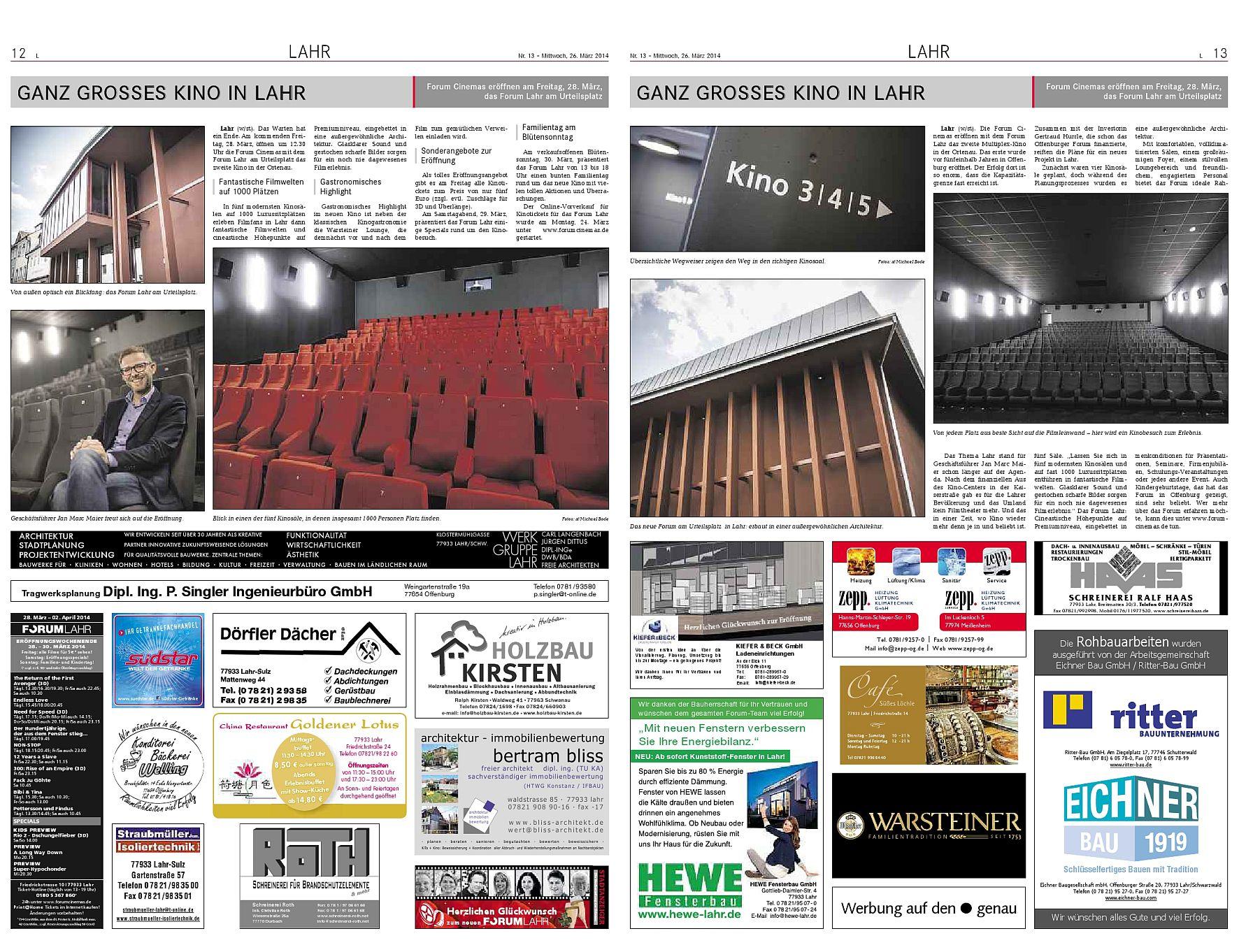 Kino Lahr Schwarzwald
